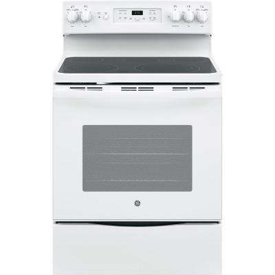 30 in. 5.3 cu. ft. Free-Standing Electric Self-Clean Range with Convection in White