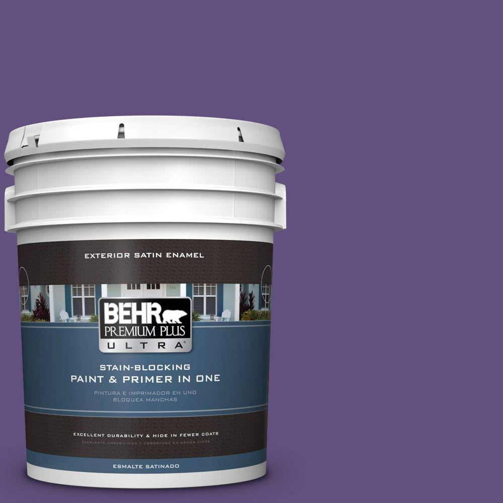 BEHR Premium Plus Ultra 5-gal. #S-G-650 Berry Syrup Satin Enamel Exterior Paint
