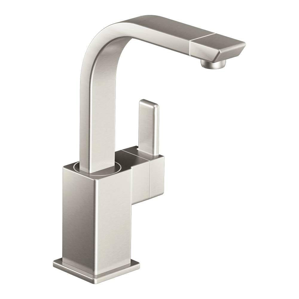 MOEN 90-Degree Single-Handle Bar Faucet in Spot Resist Stainless ...