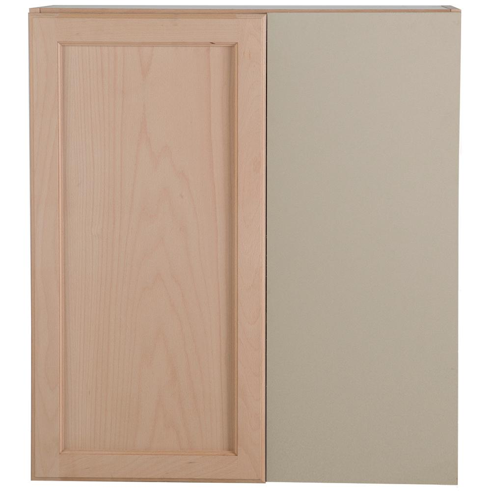 Good Hampton Bay Assembled 27x12.5x30 In. Easthaven Blind Wall Corner Cabinet In  Unfinished German