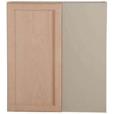 Easthaven Shaker Assembled 27x12.5x30 in. Frameless Blind Wall Corner Cabinet in Unfinished Beech