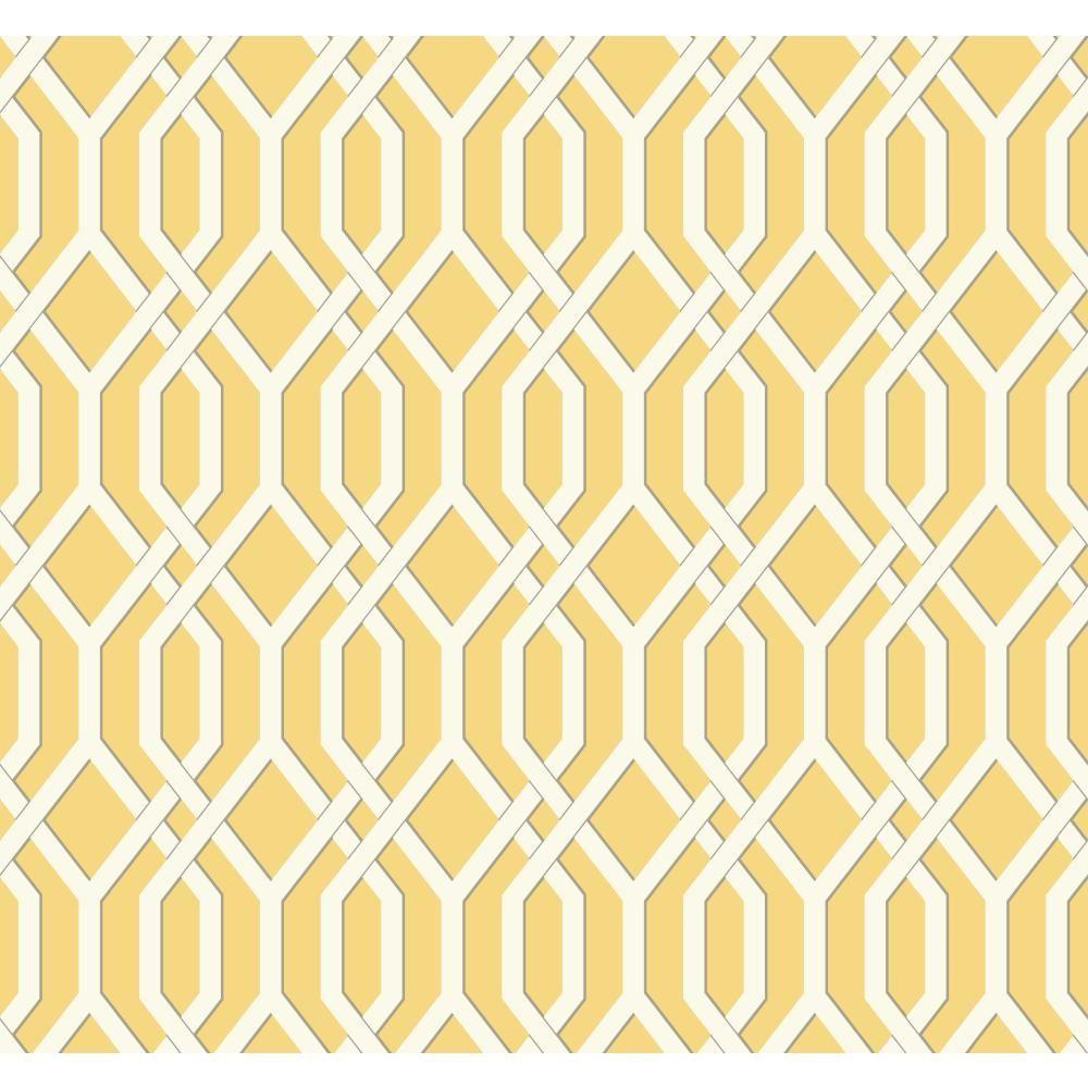 York wallcoverings ashford geometrics garden pergola for Yellow wallpaper home depot