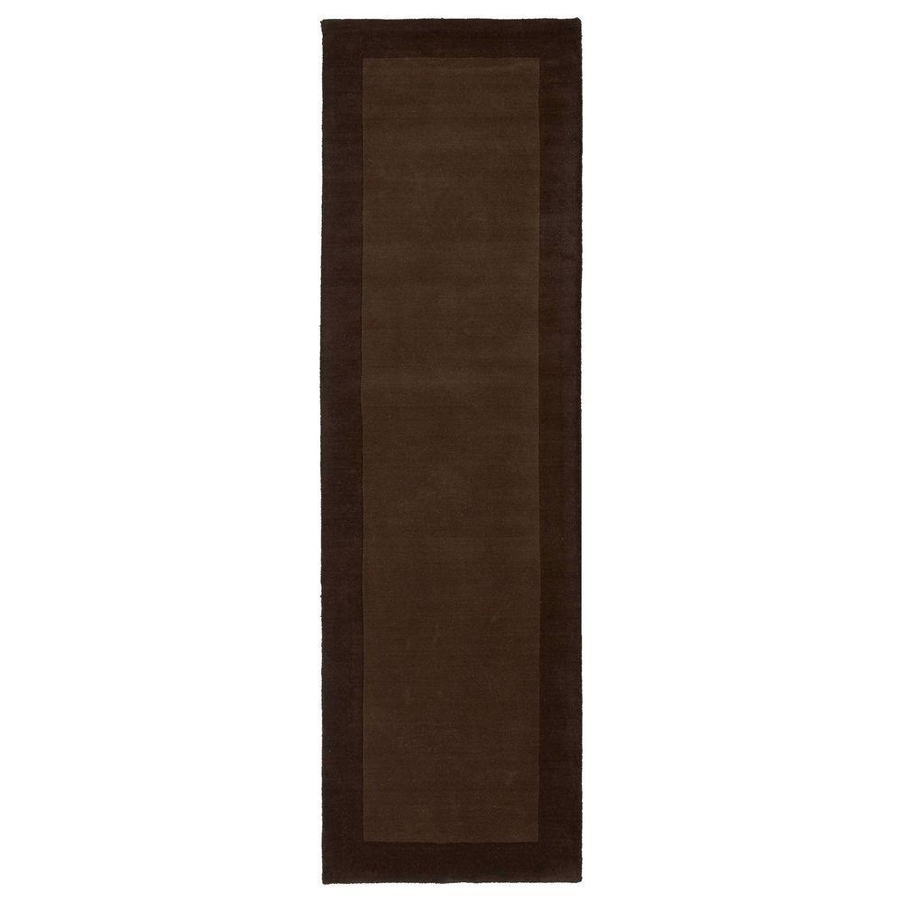 Regency Brown 3 ft. x 9 ft. Runner Rug