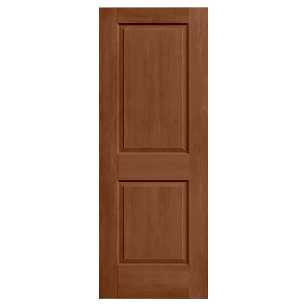 24 in. x 80 in. Cambridge Hazelnut Stain Molded Composite MDF Interior Door Slab