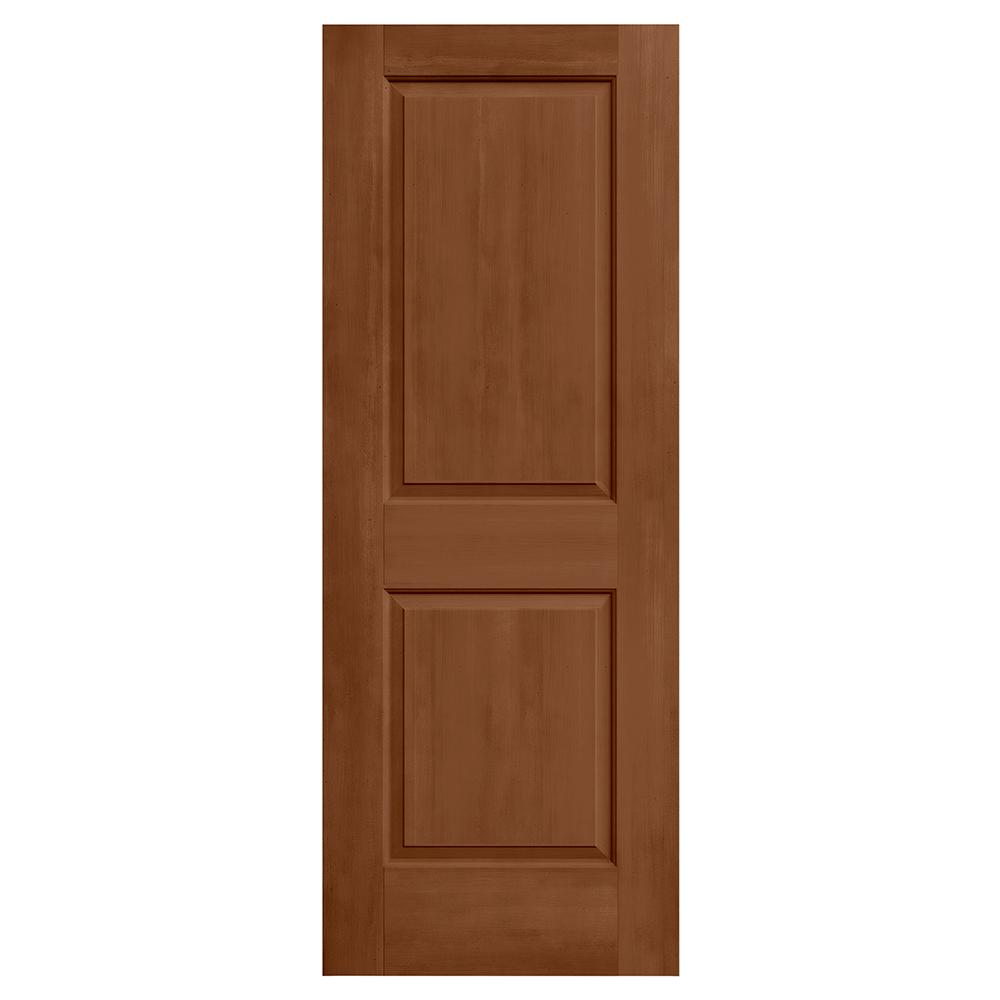 Jeld wen 30 in x 80 in cambridge hazelnut stain solid for Mdf solid core interior doors