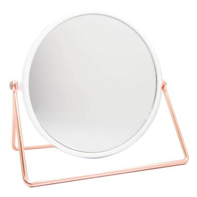 4.82 in. x 6.63 in. Cosmetic Mirror with Sleek Stand in Rose Gold