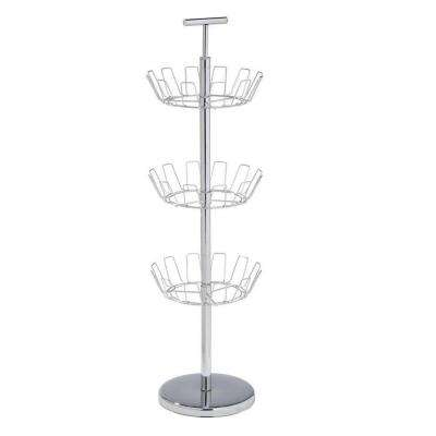 3-Tier 18-Pair Steel Shoe Organizer in Chrome