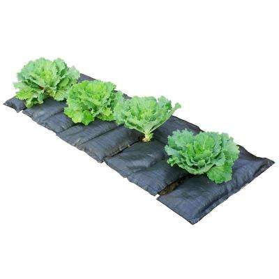 GardenMat48 - 48 in. x 22 in. Garden Bed Hydration Mat with 4 Openings for Plants for 4 ft. to 8 ft. Beds