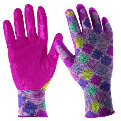 Nitrile Dipped Youth Girls Fabric Gloves