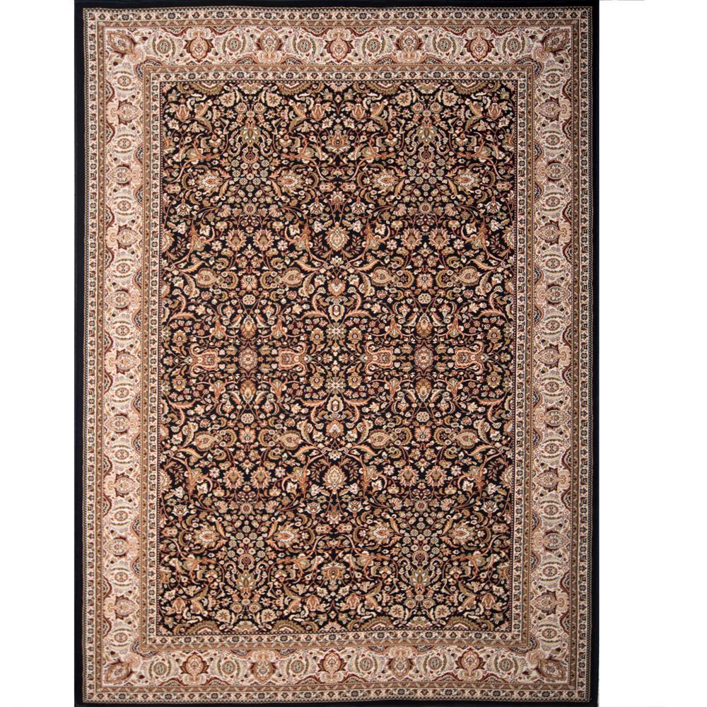 Home Dynamix Super Kashan Black 7 ft. 10 in. x 10 ft. 2 in. Indoor Area Rug