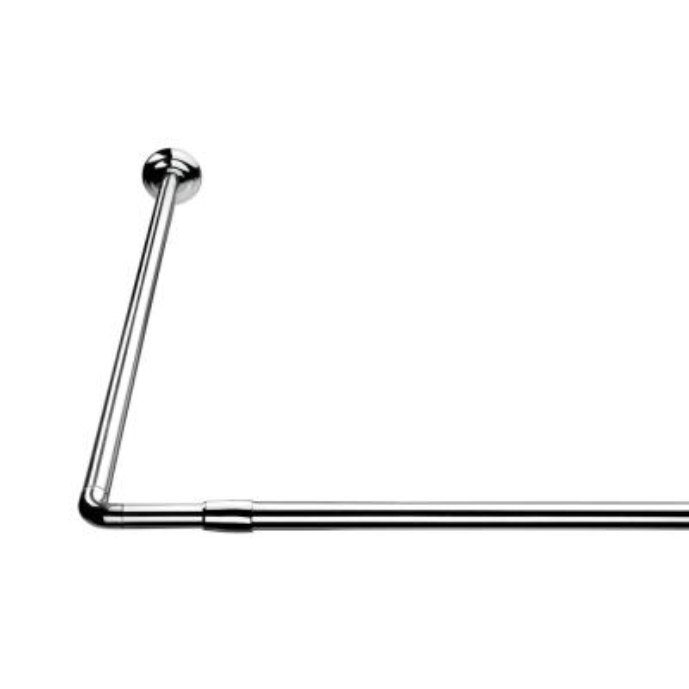 78-3/4 in. L Shaped Telescopic Rod in Silver