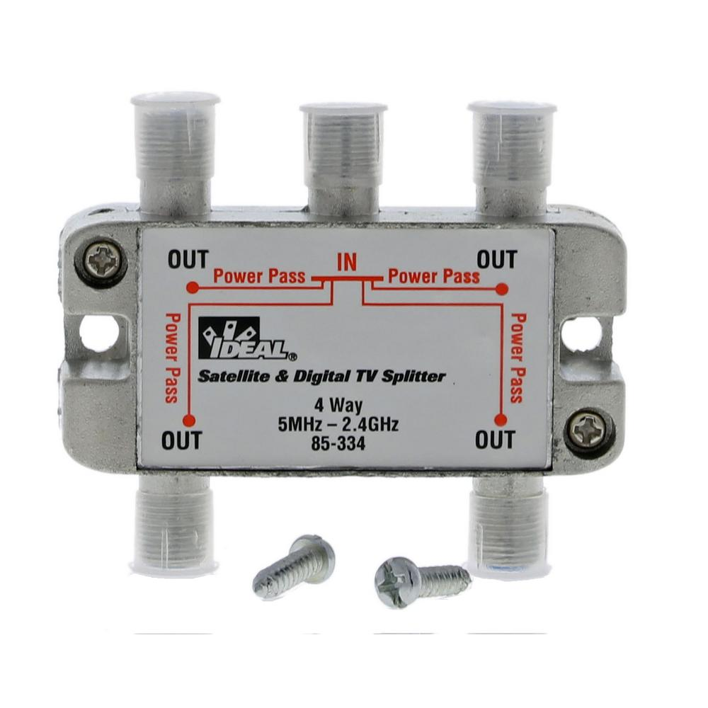c8b886d8944df2 Ideal 5 MHz - 2.4 GHz 4-Way Digital Splitter (Standard Package, 2  Splitters)-85-334 - The Home Depot