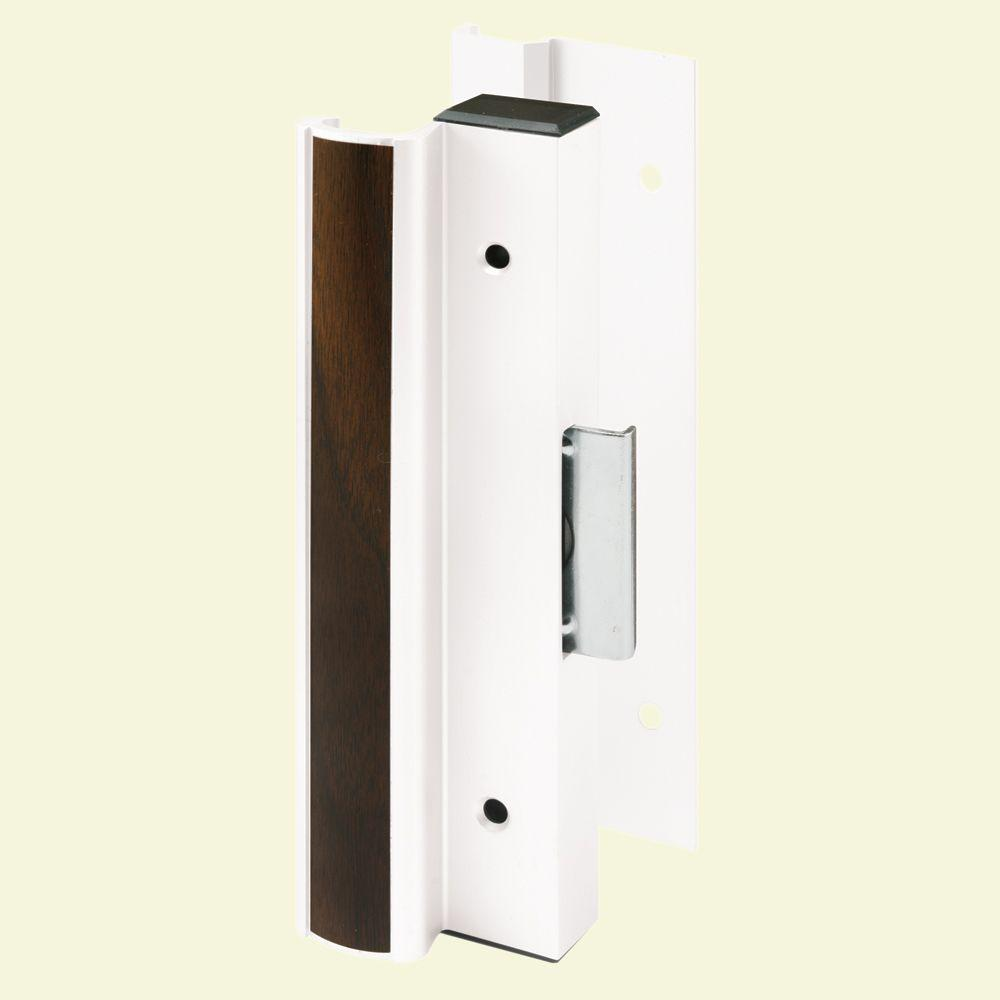 Prime-Line Northrop White Finish Sliding Door Handle Set