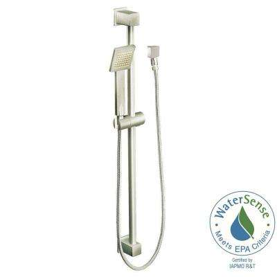 90-Degree Eco-Performance 1-Spray 3 in. Handshower in Brushed Nickel