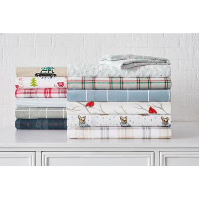 Cotton Flannel Solid Sheet Set