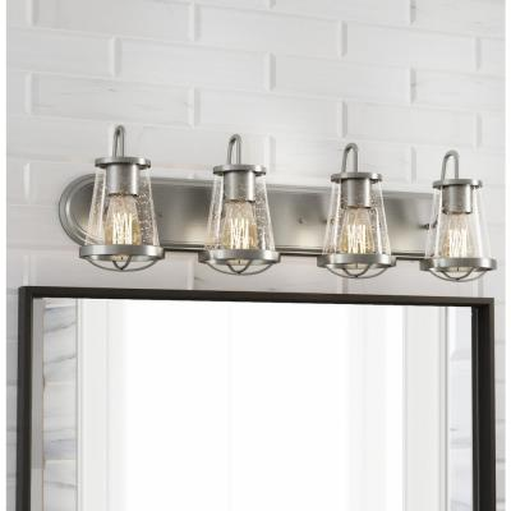 Georgina 4-Light Brushed Nickel Vanity Light