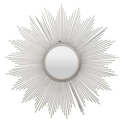 31 in. Silver Metal Wall Mirror