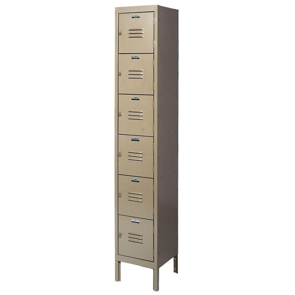 Citadel 6-Tier 12 in. W x 15 in. D x 12 in. H Steel Traditional Box Locker in Tan