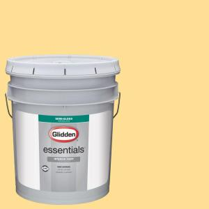 Glidden Essentials 5 Gal Hdgy29 Sunny Semi Gloss Interior Paint Hdgy29e 01sd The Home Depot
