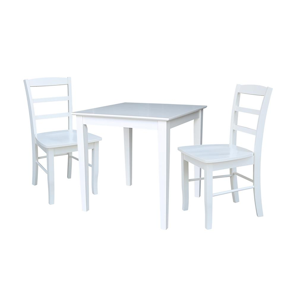 International Dining Room: International Concepts Emma 3-Piece White Solid Wood