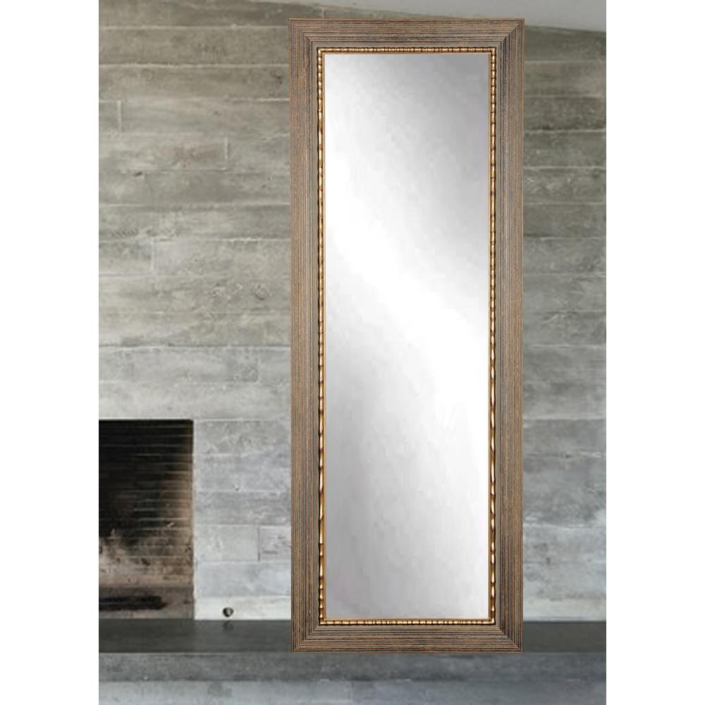 Weathered Gray Full Length Floor Wall Mirror Bm035ts The Home Depot