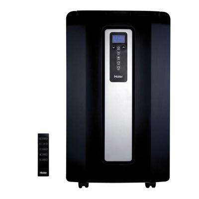 12,000 BTU Portable Air Conditioner with Heat Pump and Dehumidifier in Black