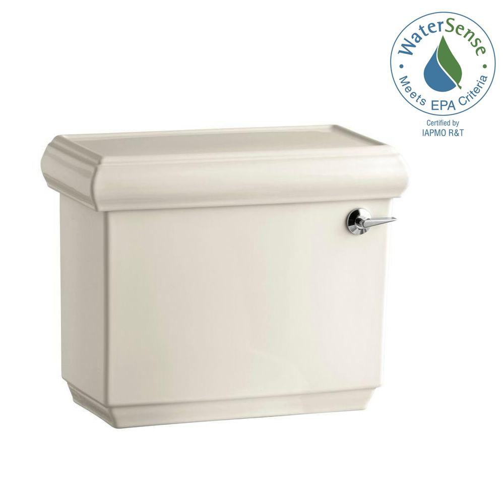 KOHLER Memoirs 1.28 GPF Single Flush Toilet Tank Only in Almond (Brown)