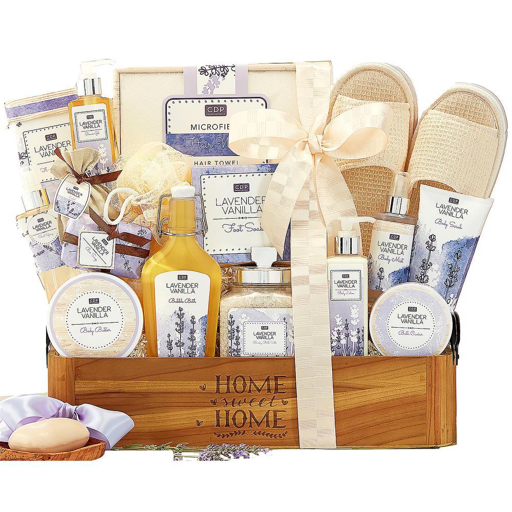 Lavender Vanilla Spa Gift Baskets