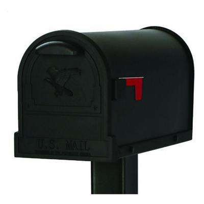 Arlington Premium Steel Post-Mount Mailbox, Black