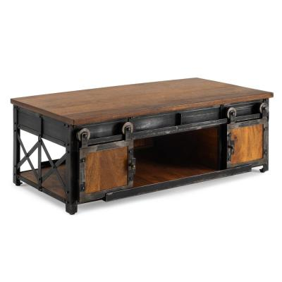 Carnegie Brown Industrial Coffee Table