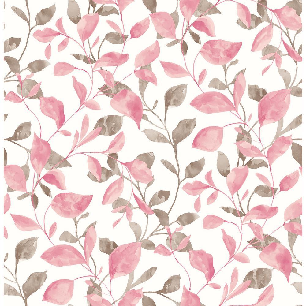 Wyn, Catalina Trail Pink Vine Wallpaper