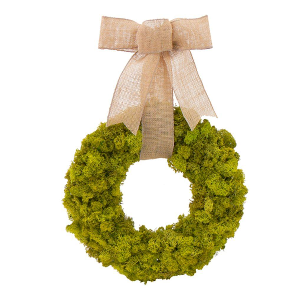 The Christmas Tree Company Moss Garden 12 in. Dried Floral Wreath-DISCONTINUED