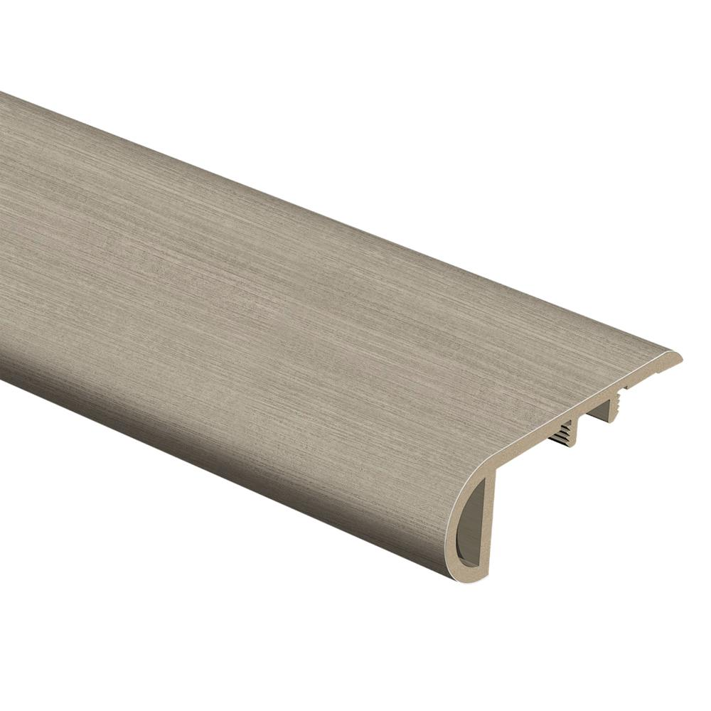 Zamma Cream Concrete 3/4 in. Thick x 2-1/8 in. Wide x 94 in. Length Vinyl Stair Nose Molding