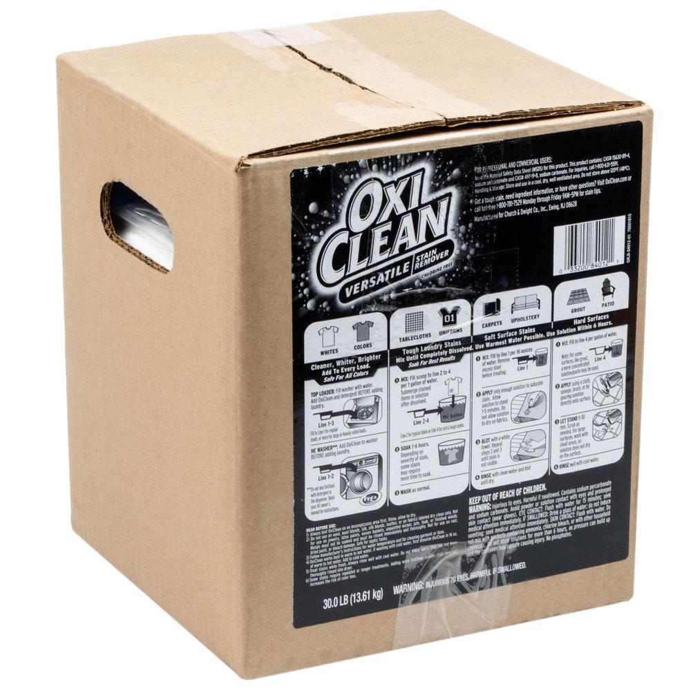 Oxiclean 30 Lb Multi Purpose Stain Remover Powder 33200