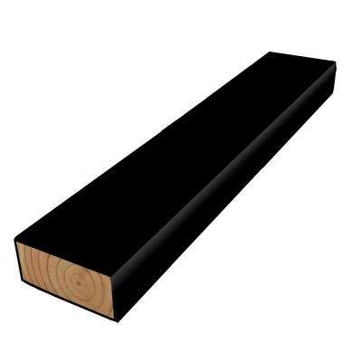 2 in. x 4 in. x 8 ft. #2 Polymer Coated Black Treated Lumber