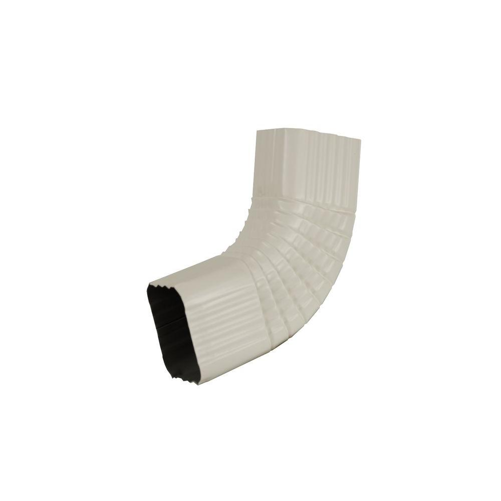 Amerimax Home Products 2 in. x 3 in. Bone Linen Aluminum Downspout B Elbow