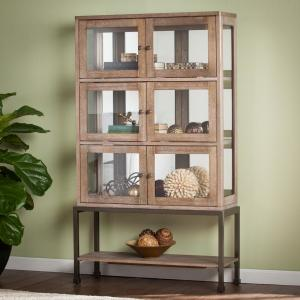 Deals on Southern Enterprises Hansere w/Lighted Contemporary Curio