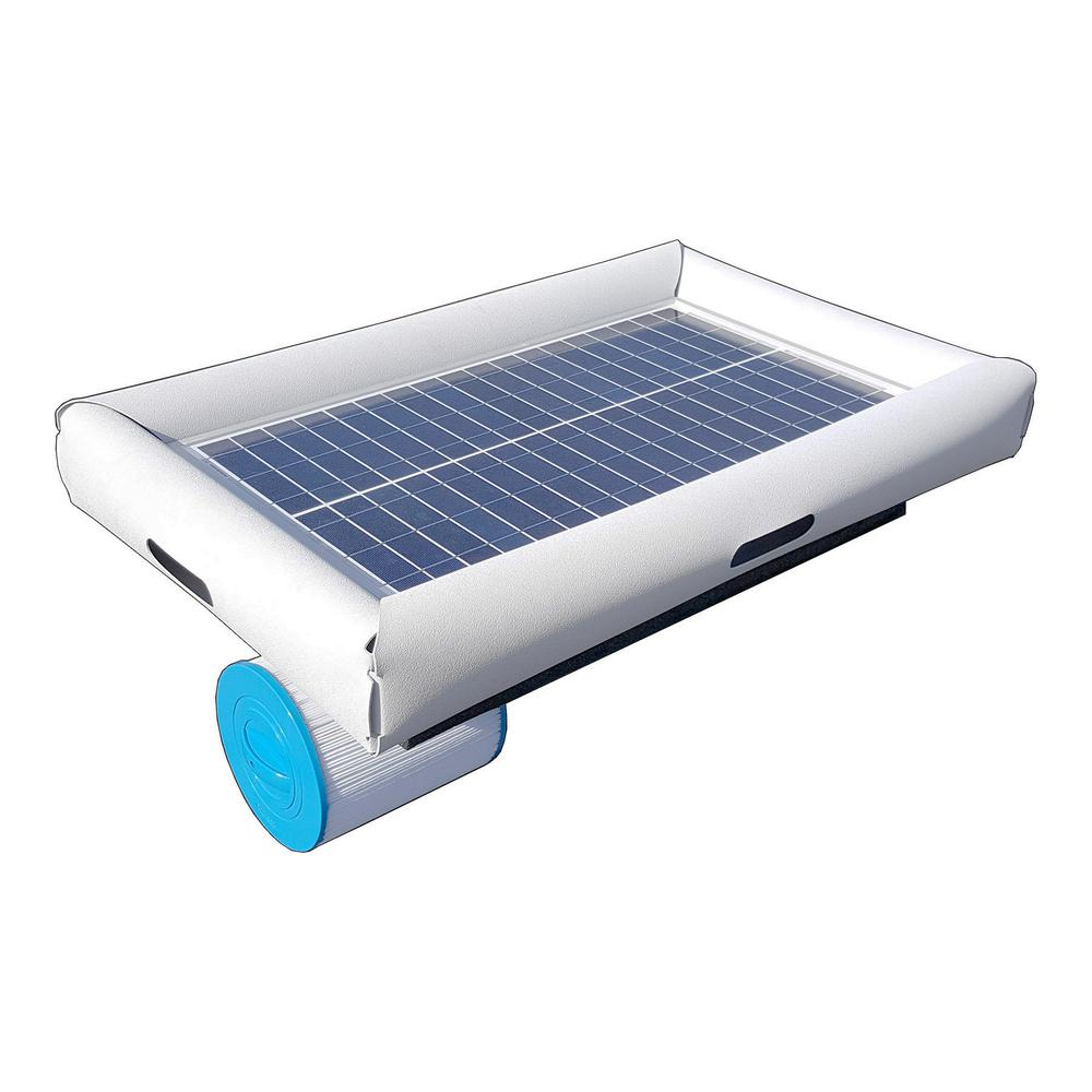 Savior 5,000 gal. Solar Powered Pool Pump with Floating C...