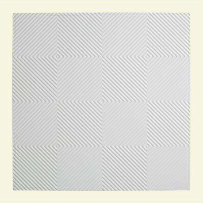 Quattro - 2 ft. x 2 ft. Lay-in Ceiling Tile in Gloss White