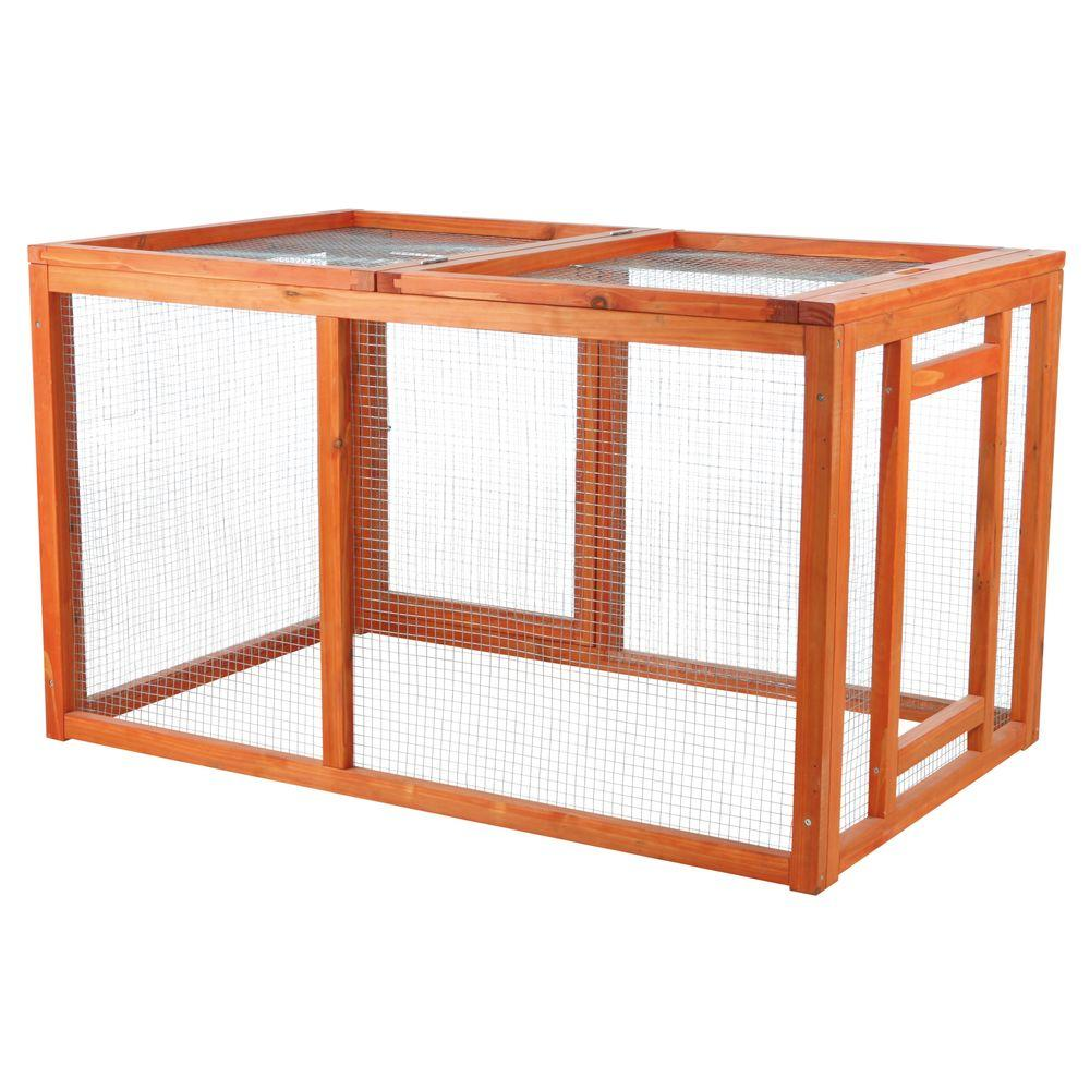 TRIXIE Outdoor Run with Mesh Cover-55965 - The Home Depot