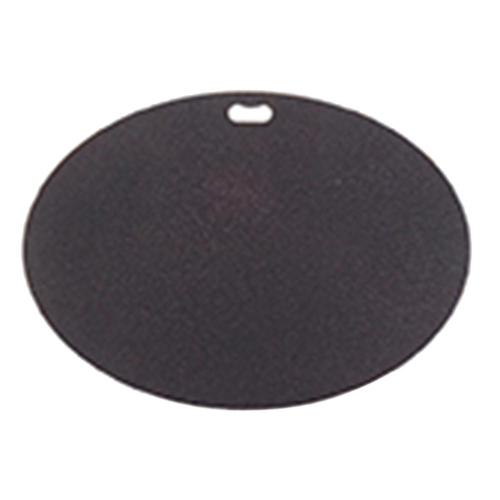 42 in. x 30 in. Oval Berry Black Deck Protector