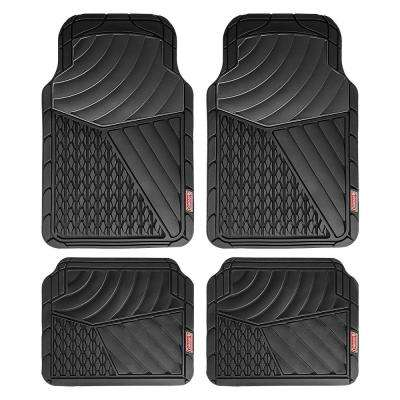 Black All Weather 4-Piece 28.5 in. x 18.5 in. Journeyman Class PVC Car Mat