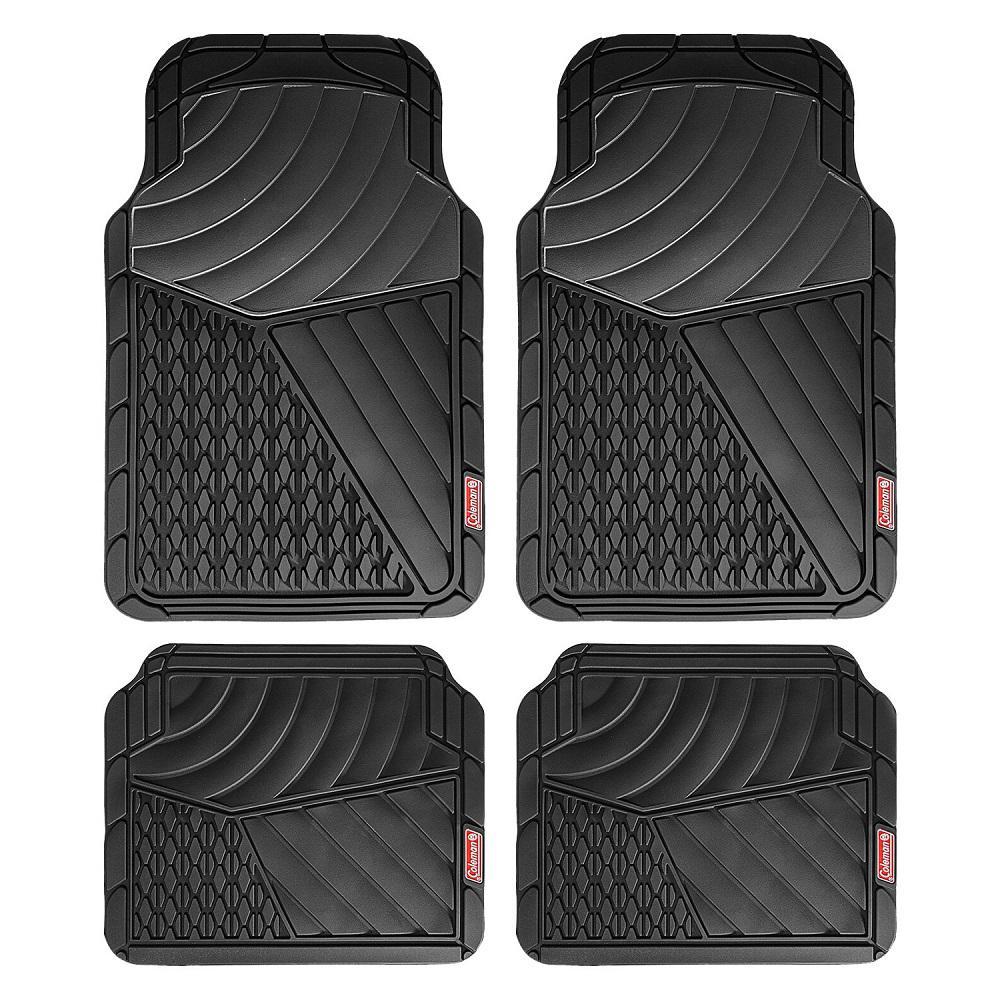 Black All Weather 4-Piece 28.5 in. x 18.5 in. Journeyman Class PVC Car Mat