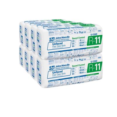 R-11 Unfaced Fiberglass Insulation Batt 23 in. x 93 in. (8-Bags)