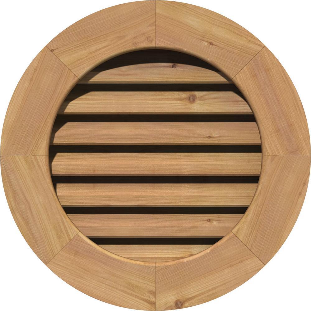 Ekena Millwork 23 In. X 23 In. Smooth Cedar Functional