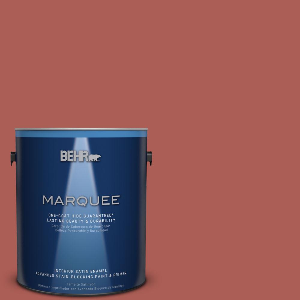 1 gal. #T12-1 Prairie Poppy Satin Enamel Interior Paint