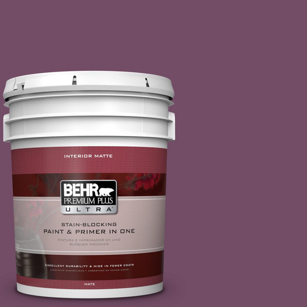 BEHR Premium Plus Ultra 5 gal. #690D-7 Radicchio Flat/Matte Interior Paint
