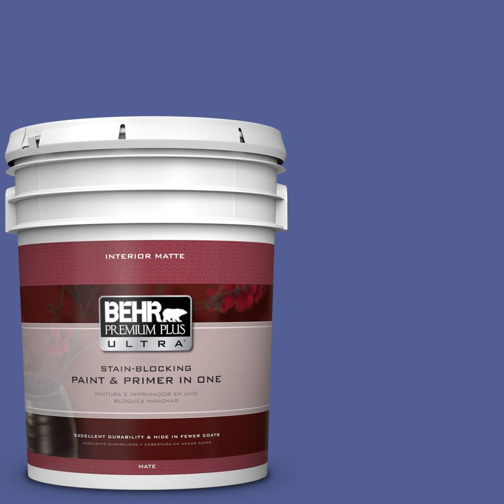 BEHR Premium Plus Ultra 5 gal. #610B-7 Breathtaking Flat/Matte Interior Paint
