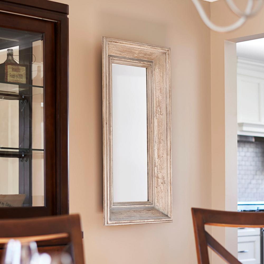 Rectangular Wood Wall Mirror