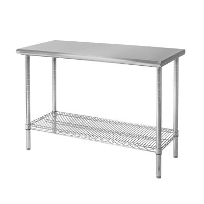 Stainless Steel Utility Table with Open Storage